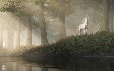 Digital Art - Unicorn Sighting by Daniel Eskridge