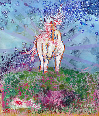 Torn Painting - Unicorn Tears by Kimberly Santini