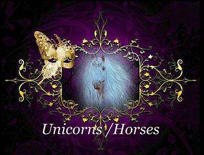 Digital Art - Unicorns/horses by Ali Oppy