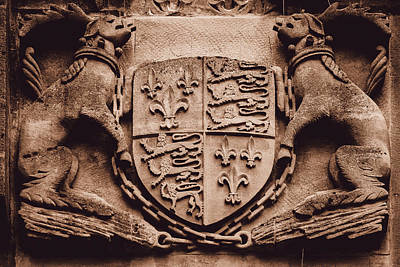 Photograph - Unidentified Vintage Stone Coat Of Arms by Jacek Wojnarowski