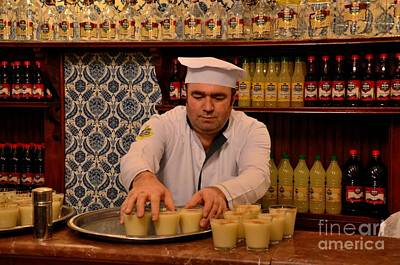 Photograph - Uniformed Staff At Vefa Boza Drink Maker Carries Drinks Istanbul Turkey by Imran Ahmed
