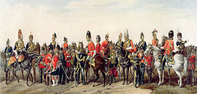Regalia Painting - Uniforms Of The British Army by English School