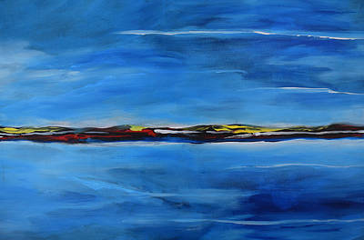 Caribbean Abstract Painting - Uninhabited by Gary Smith