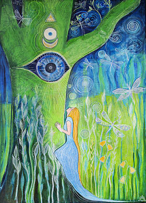 Love Triangle Painting - Union by Agnieszka Szalabska