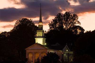 Photograph - Union Baptist Church - Mystic Ct by Kirkodd Photography Of New England