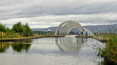 Photograph - Union Canal At The Falkirk Wheel by Elena Perelman
