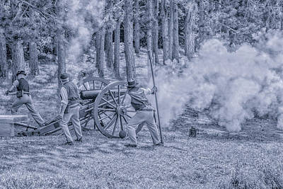 Union Cannon Civil War Toned Art Print by Randy Steele