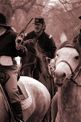 Photograph - Union Cavalry by Jame Hayes