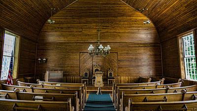 Union Christian Church Sanctuary Art Print by Stephen Stookey