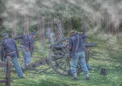 Battle Of Gettysburg Digital Art - Union Civil War Cannon by Randy Steele