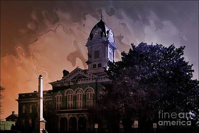 Mixed Media - Union County Courthouse Nc 2 by Bob Pardue