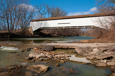 Photograph - Union Covered Bridge by Steve Stuller