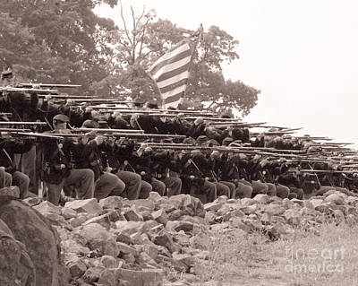 Photograph - Union Firing Line At The High-water Mark At Gettysburg0015s by Cynthia Staley