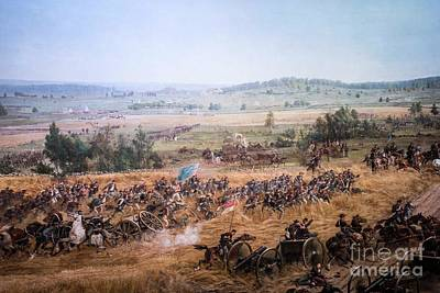 Photograph - Union Infantry And Artillery Advancing Toward The Angle by David Bearden