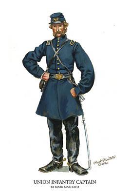 Union Infantry Captain Original by Mark Maritato