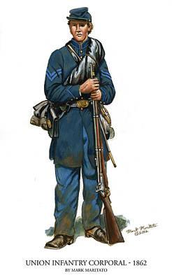 Union Infantry Corporal Original by Mark Maritato