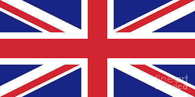 Digital Art - Union Jack Ensign Flag 1x2 Scale by Bruce Stanfield