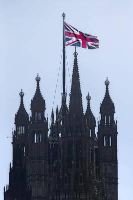 Westminster Palace Photograph - Union Jack by Joana Kruse