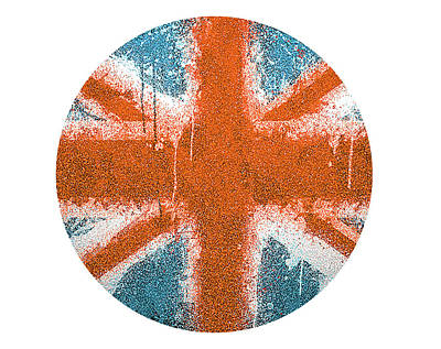 Digital Art - Union Jack by Spikey Mouse Photography