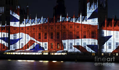 Photograph - Union Jack On Parliament by John Rizzuto