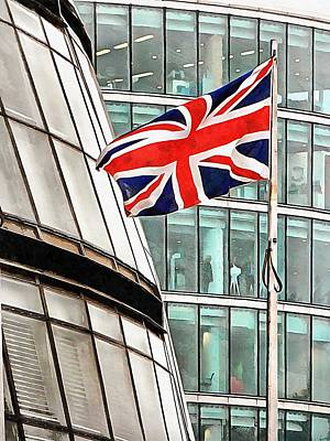 Photograph - Union Jack Outside City Hall London by Dorothy Berry-Lound