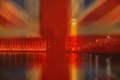 Blend Photograph - Union Jack Over London by Andrew Soundarajan