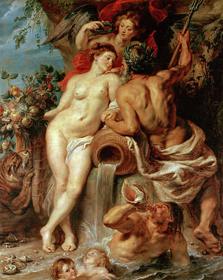 Goddess Painting - Union Of Earth And Water by Peter Paul Rubens