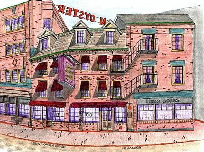 Drawing - Union Osyter House Boston by Paul Meinerth