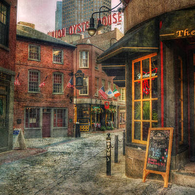Oyster Photograph - Union Oyster House - Blackstone Block - Boston by Joann Vitali