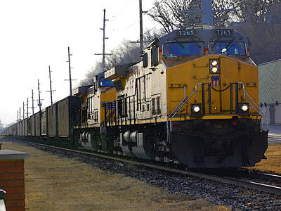 Photograph - Union Pacific 7265 by Jame Hayes