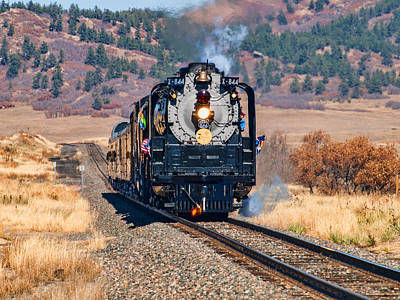 Photograph - Union Pacific 844 by Alana Thrower