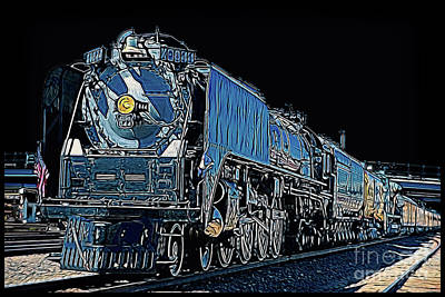 Photograph - Union Pacific 844 by John Freidenberg