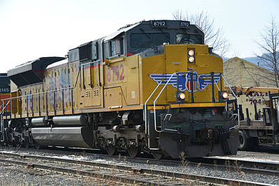 Photograph - Union Pacific 8792  North Adams by Mike Martin