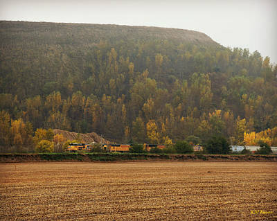 Photograph - Union Pacific And Loess Hills by Kathy M Krause