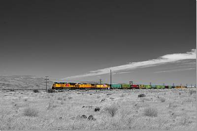 Union Pacific In Columbia Gorge Art Print