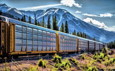 Painting - Union Pacific Mountain Freight Train by Christopher Arndt