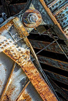 Photograph - Union Pacific North Metra Train Bridge Dsc_9832 by Raymond Kunst
