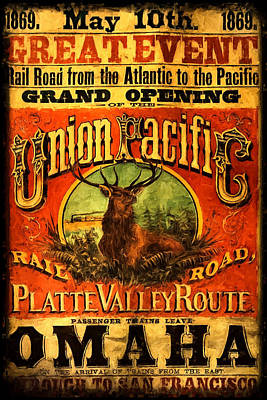 Photograph - Union Pacific Platte Valley Route by Ken Smith