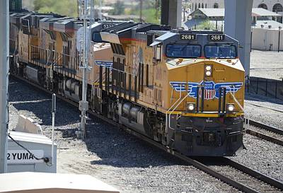 Photograph - Union Pacific Train Engine Yuma Arizona by rd Erickson