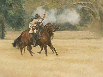 Union Riders Art Print by Linda Eades Blackburn