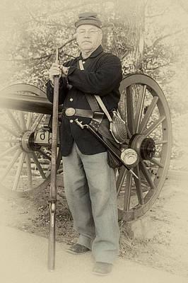 Little Round Top Digital Art - Union Soldier July 1863 by John Haldane