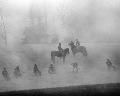 Photograph - Union Soldiers On The Ridge by Alan Raasch