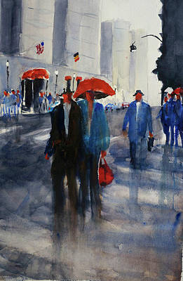 Painting - San Francisco's Union Square  by Tom Simmons