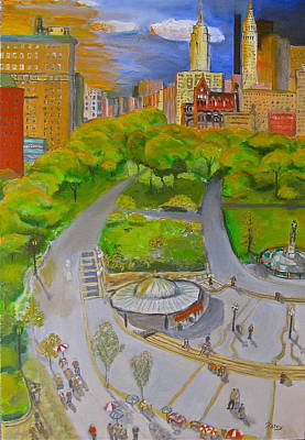 Union Square Nyc Original by Natey Freedman