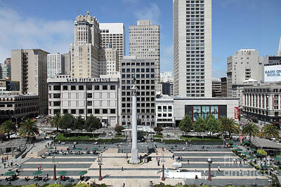 Photograph - Union Square San Francisco California 5d17938 by San Francisco Art and Photography