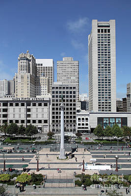 Photograph - Union Square San Francisco California 5d17941 by San Francisco Art and Photography