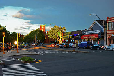 Union Square Somerville Ma Art Print by Toby McGuire