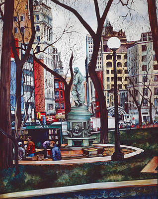 Union Square's Smell Of Color Original by Gaye Elise Beda