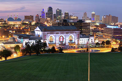 Photograph - Union Station And The Kansas City Skyline by Gregory Ballos