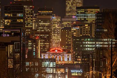 Photograph - Union Station At Night by Kristal Kraft